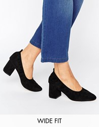 Asos Simone Wide Fit Heels Black