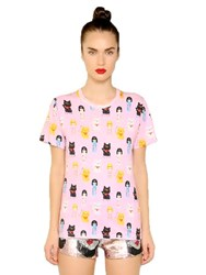 Au Jour Le Jour Doll Printed Cotton T Shirt