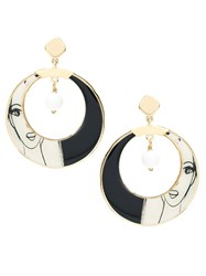 Francesca Romana Diana Gold Plated Hoop Earring Multicolour