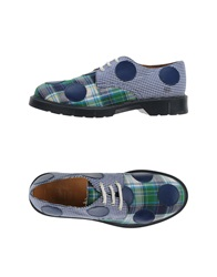 Never Ever Lace Up Shoes Blue