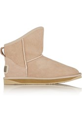 Australia Luxe Collective Cosy Shearling Lined Suede Boots Nude