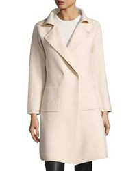 Neiman Marcus Snap Front Knit Jacket With Contrast Back Light Beig