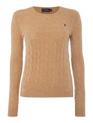 Polo Ralph Lauren Julianna Cable Wool Crew Neck Jumper Beige