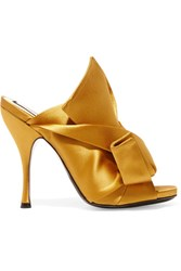 N 21 No. Knotted Satin Mules Mustard