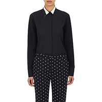 Givenchy Women's Exposed Collar Stay Shirt Dark Grey