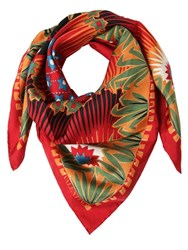 Valentino Volcano And Stars Printed Silk Twill Scarf
