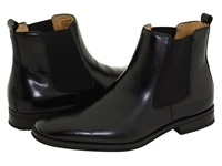 Bass Amsterdam Black Leather Men's Pull On Boots