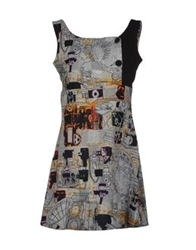 Pam And Arch Short Dresses Grey