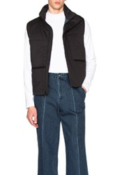 Patrik Ervell Utility Vest In Black Blue