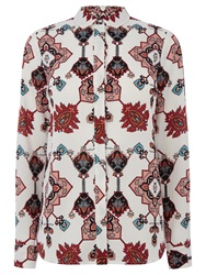 Warehouse Tapestry Print Blouse Multi