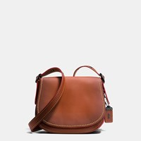Coach Saddle Bag 23 In Burnished Glovetanned Leather Brown