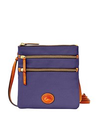 Dooney And Bourke North South Triple Zip Crossbody Midnight Blue