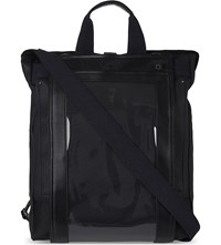 Junya Watanabe Faux Leather Backpack Tote Black
