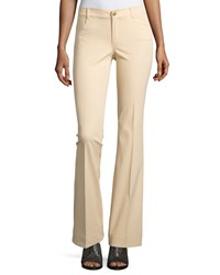 Minnie Rose Flare Leg Stretch Twill Pants Sand Brown