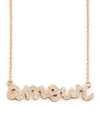 Sydney Evan Diamond Amour Necklace Rose Gold