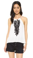 Bb Dakota Eliza Embroidered Top Dirty White