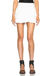 Isabel Marant Irisa Chic Linen Skirt In White