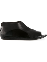 Marsell Marsell Back Zip Sandals Black