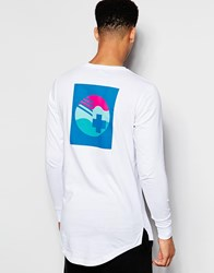 Pink Dolphin Long Sleeve T Shirt With Back Print White