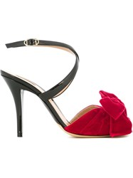 Armani Collezioni Bow Detail Sandals Black