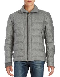 Hugo Boss Marled Puffer Coat Light Pastel Grey