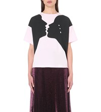 Christopher Kane Romeo And Juliet Cotton T Shirt Pink
