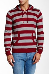 Yoki Striped Long Sleeve Hooded Sweater Multi