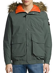 Helly Hansen Faux Fur Hooded Puffer Jacket Rock