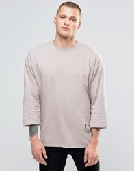 Religion 3 4 Sleeve Crew Neck Top With Drop Shoulder Detail Ashes Of Roses Pink