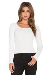 Central Park West Queensland Long Sleeve Top White