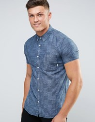 Element Short Sleeve Shirt With Pocket Blue