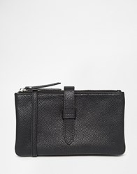 Pieces Micro Crossbody Bag With Fold Over Strap Detail Black