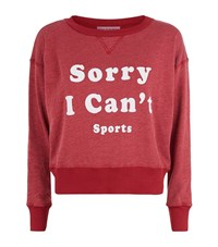 Wildfox Couture Can't Sports Slogan Terry Sweatshirt Female