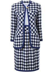 Chanel Vintage Checked Skirt Suit Multicolour