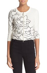 Women's Tracy Reese Floral Print Cotton Cardigan
