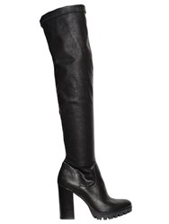 Carvela Kurt Geiger 100Mm Stretch Faux Leather Tall Boots