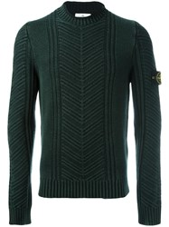 Stone Island Crew Neck Jumper Green
