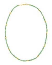 Gurhan Gleam Rain 24K Beaded Emerald Necklace