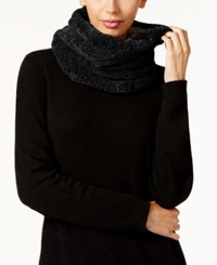 Charter Club Faux Sherpa Lined Chenille Snood Scarf Only At Macy's Black