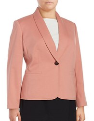 Nipon Boutique Plus One Button Ponte Blazer Rose