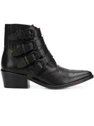 Toga Four Buckle Boots Black