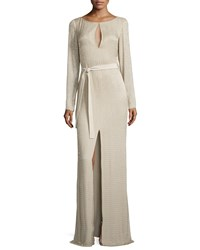 Escada Long Sleeve Gown With Embroidery Women's