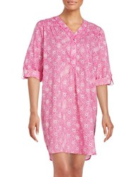 Karen Neuburger Cotton Sleepshirt Pink