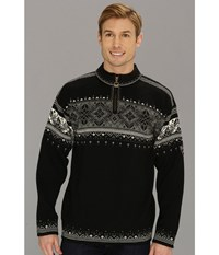 Dale Of Norway Blyfjell F Black Off White Smoke Silver Men's Sweater