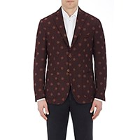 Montedoro Men's Tweed Two Button Sportcoat Red