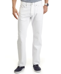 Nautica Relaxed Fit White Denim Jeans Bright White