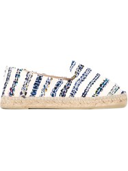 Manebi Manebi Striped Espadrilles Nude And Neutrals