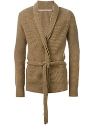 Nuur Shawl Lapels Cardigan Nude And Neutrals