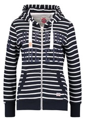Superdry Tracksuit Top Nautical Navychalk Dark Blue