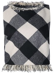 Zac Posen Checked Tank Top Black